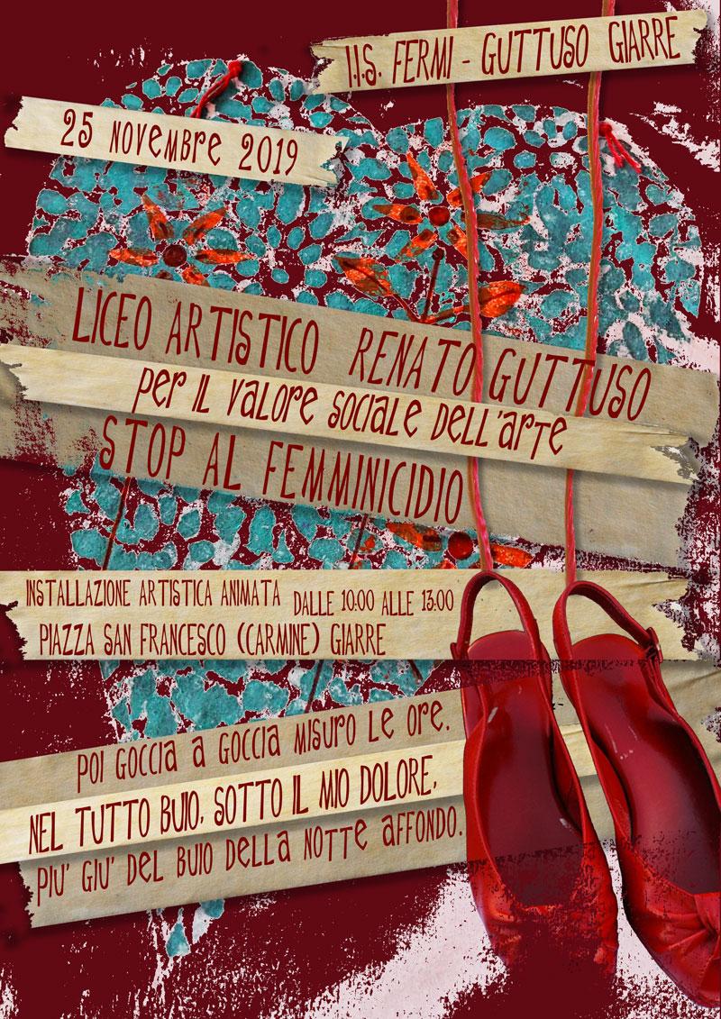 Stop al Femminicidio – Installazione Artistica Animata @ Piazza Carmine - Giarre